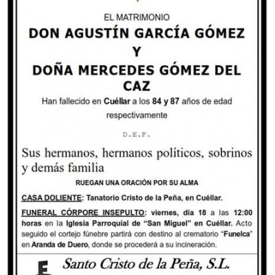Agustín García y Mercedes Gómez