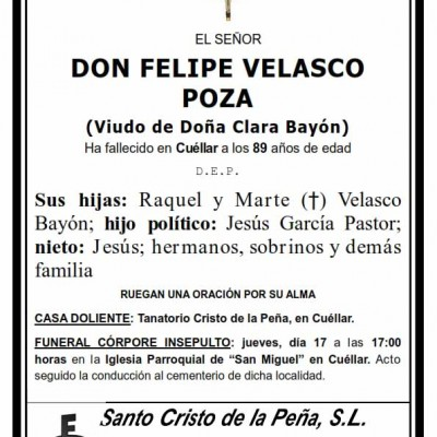 Felipe Velasco Poza