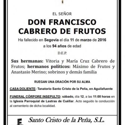Francisco Cabrero de Frutos