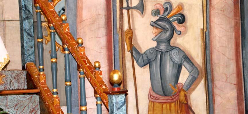 Uno de los guardias que custodia el sepulcro de Cristo.