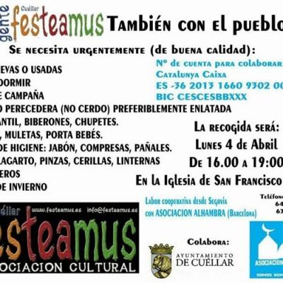 Gente Festeamus se une a la Asociación Alhambra para recoger productos para el pueblo sirio
