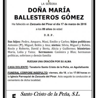 María Ballesteros Gómez