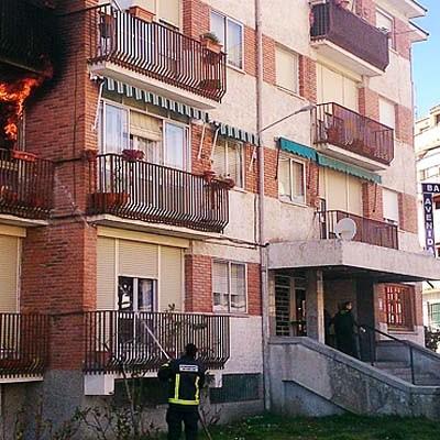 Fallece un matrimonio en el incendio de su vivienda en Cuéllar