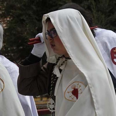 La lluvia impidió la salida de la procesión de la virgen de la Compasión