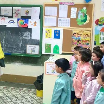 Don Quijote visitó el colegio La Villa para celebrar el día del Libro