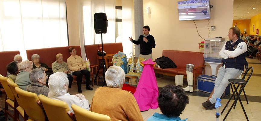 Javier Herrero e Israel de Pedro durante la charla.