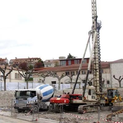 Comienzan los trabajos de cimentación en el gimnasio de La Villa