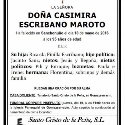 Casimira Escribano Maroto