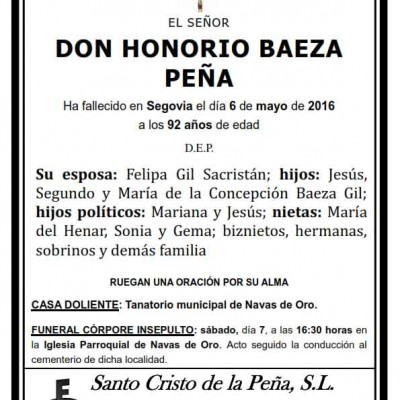 Honorio Baeza Peña