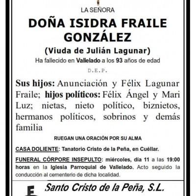 Isidra Fraile González