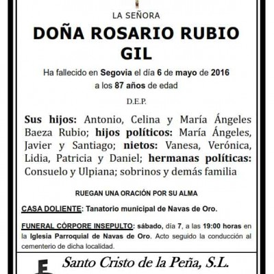 Rosario Rubio Gil