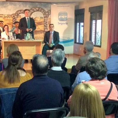 El PP celebró en Fuentesaúco de Fuentidueña una reunión informativa sobre las UBOSTs