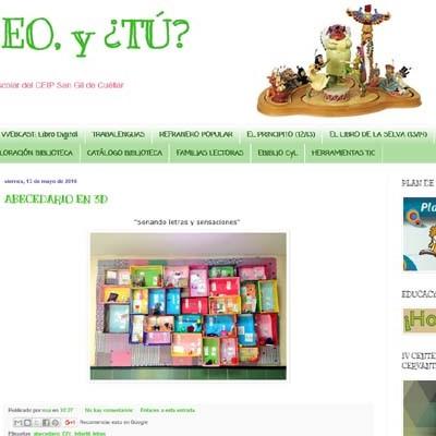 El blog de la biblioteca del CEIP San Gil ganador por segundo año consecutivo de los premios Espiral Edublogs