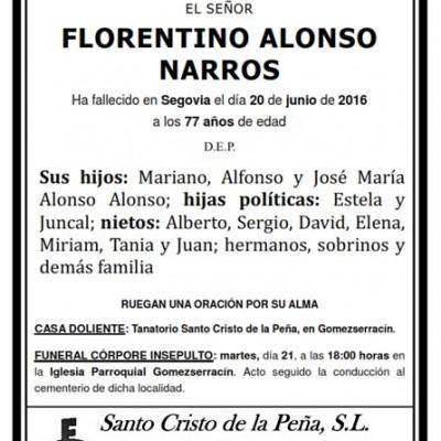 Florentino Alonso Narros