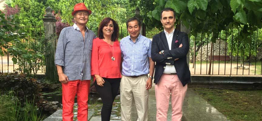 visita realizada al Centro Tenerías por Kazunobu Yanagi con el representante de PSM Aventure.