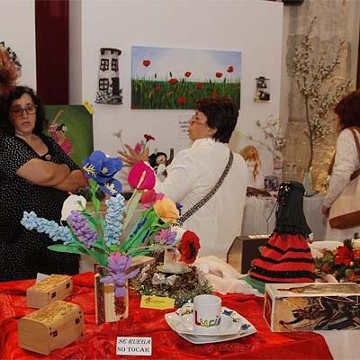 La sala Cronista Herrera acoge hasta el viernes una exposición de pintura y manualidades