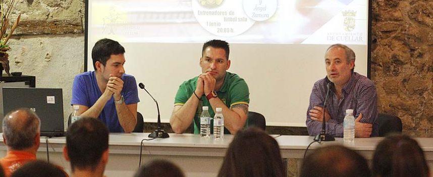 """Los entrenadores Ángel Zamora y Luis Martín hablaron sobre fútbol sala en la segunda cita de las """"Jornadas sobre Deporte"""""""