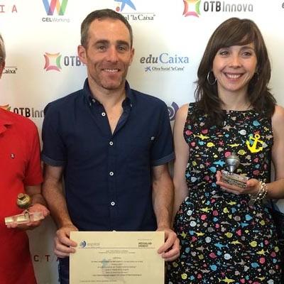 Peonza de Plata para el blog de la biblioteca del CEIP San Gil en los premios Espiral Edublogs
