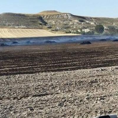Sofocado un incendio en parcelas de cereal en Dehesa Mayor