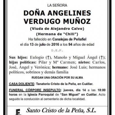 Angelines Verdugo Muñoz