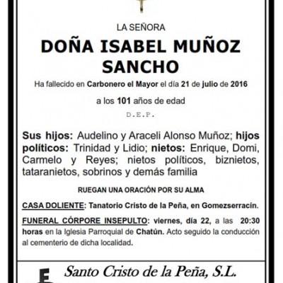 Isabel Muñoz Sancho