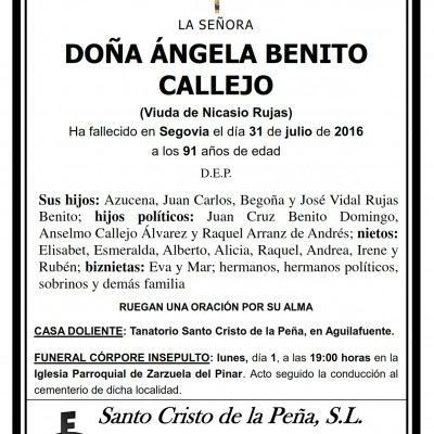 Ángela Benito Callejo