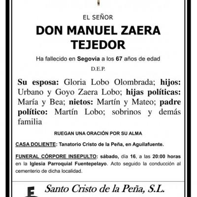 Manuel Zaera Tejedor