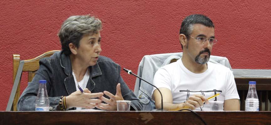 Ediles de IU en el Ayuntamiento de Cuéllar.