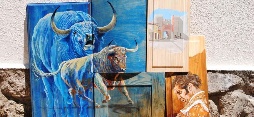 Algunas de las obras que podrán verse en la exposición.