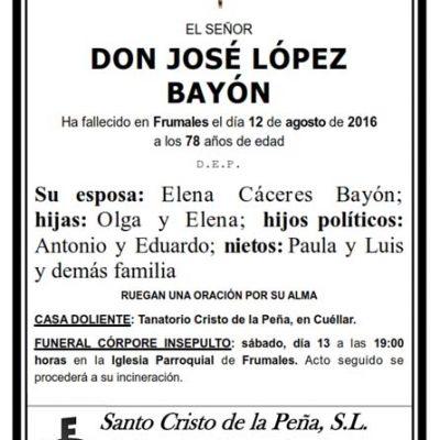 José López Bayón