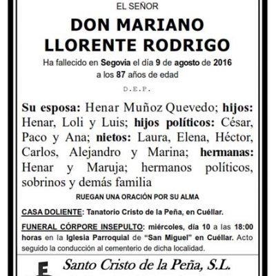 Mariano Llorente Rodrigo
