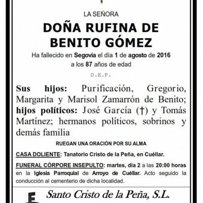 Rufina Benito Gómez