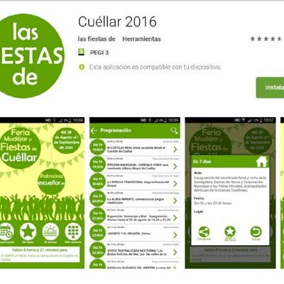 EsCuellar ya tiene disponible la aplicación gratuita con toda la programación de `Cuéllar Mudéjar´ y las fiestas de 2016