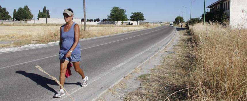 Diputación financiará la acera y el carril bici hasta el cementerio de Cuéllar