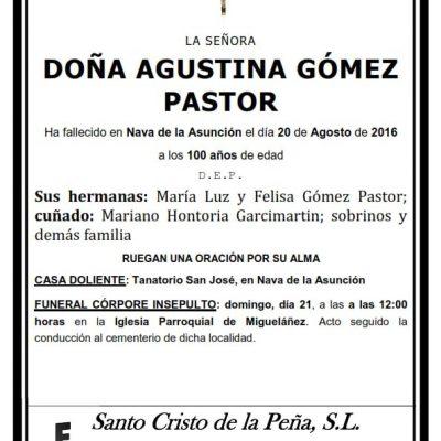 Agustina Gómez Pastor