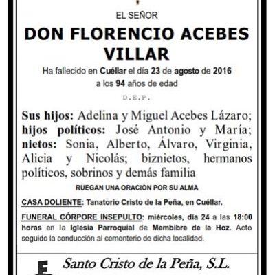 Florencio Acebes Villar