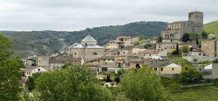 Vista parcial de la villa de Fuentidueña.