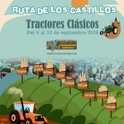 La Ruta de los Castillos de Tractores Clásicos llegará a Cuéllar el sábado