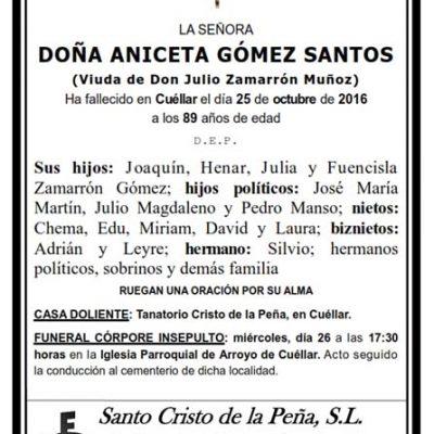 Aniceta Gómez Santos