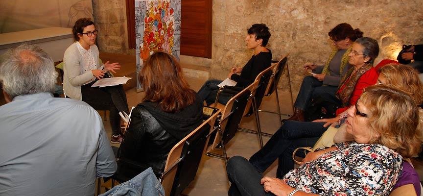Natalia del Barrio durante su encuentro  en la villa.
