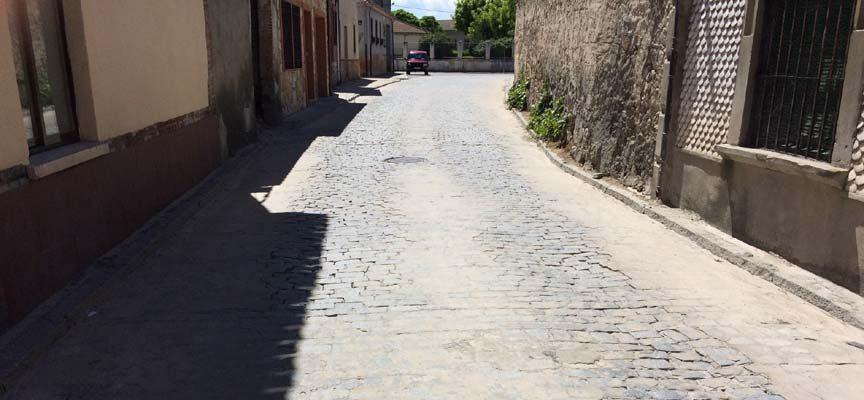 Corte al tráfico por obras de la travesía de Aguilafuente