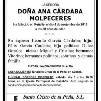 Ana Cárdaba Molpeceres