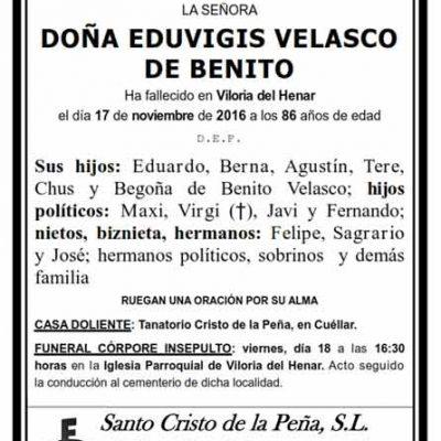 Eduvigis Velasco de Benito