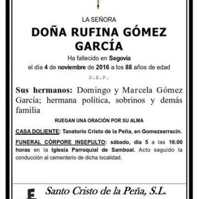 Rufina Gómez García