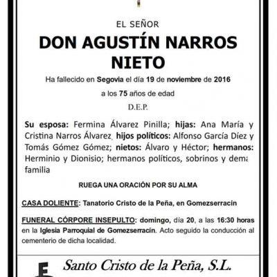 Agustín Narros Nieto