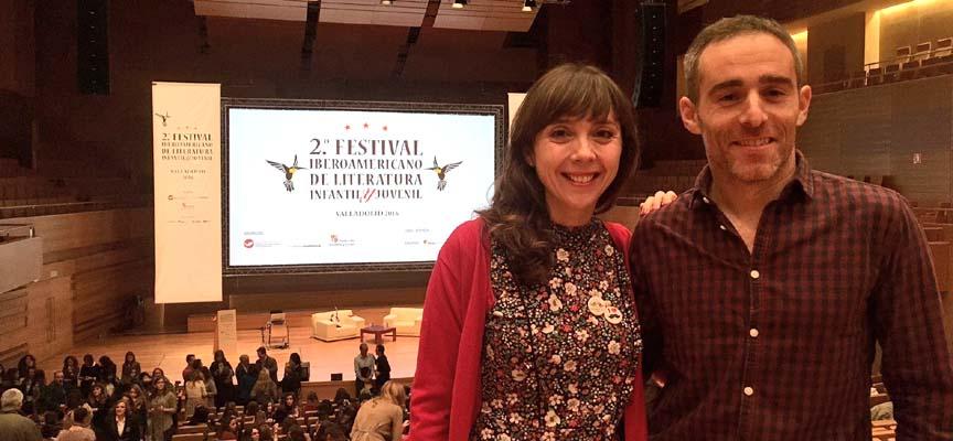 Noa Ladrón y Roberto Rey ayer durante el desarrollo del Festival.