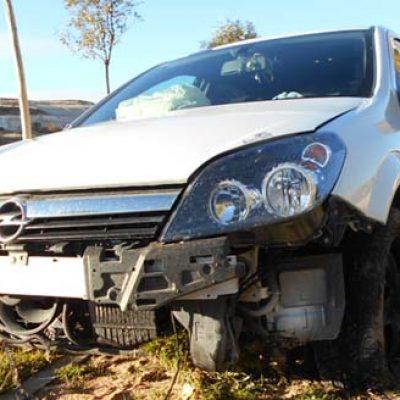 Un herido grave en un accidente en la carretera de Peñafiel