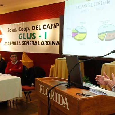 La Cooperativa Glus I duplica sus beneficios en el ejercicio 2015-2016