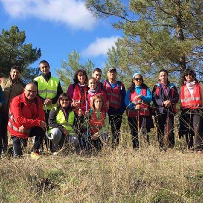 La Peguera realizó una ruta por las antiguas fuentes, refugios y pegueras de Zarzuela del Pinar