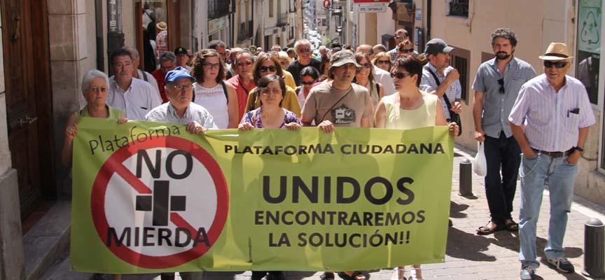 Concentración celebrada en Cuéllar por la Plataforma.